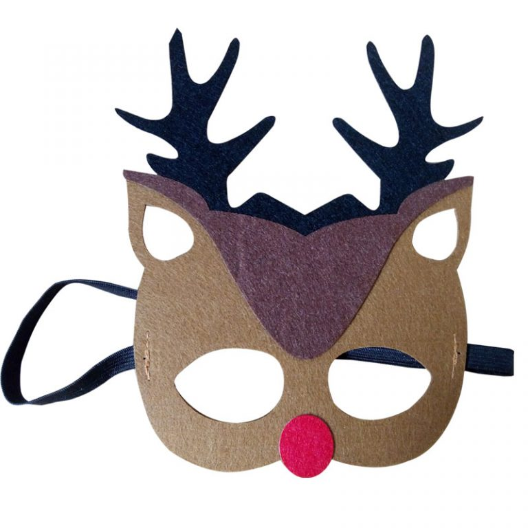 Funny Reindeer Face Mask for Reindeer Costume 1