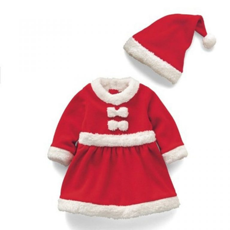 2017 Children Christmas Costume Set  for 12M-3T Toddler Baby 1
