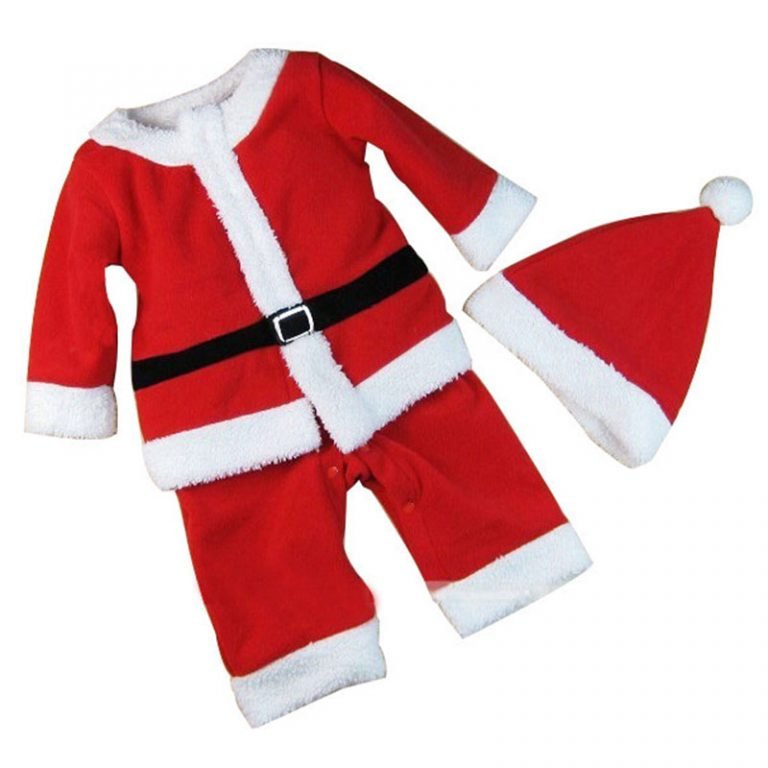 2017 Children Christmas Costume Set  for 12M-3T Toddler Baby 5