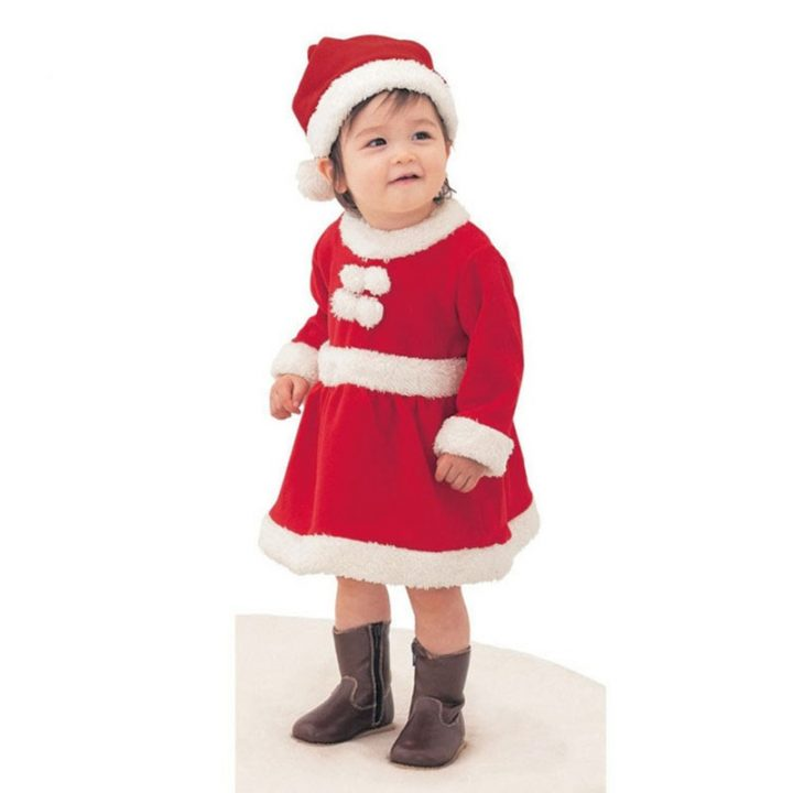 2017-Children-Christmas-Clothing-Set-12M-3T-Toddler-Baby-Boys-Girls-Xmas-Suit-and-Dress-Santa