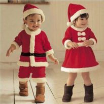 2017 Children Christmas Costume Set  for 12M-3T Toddler Baby 12