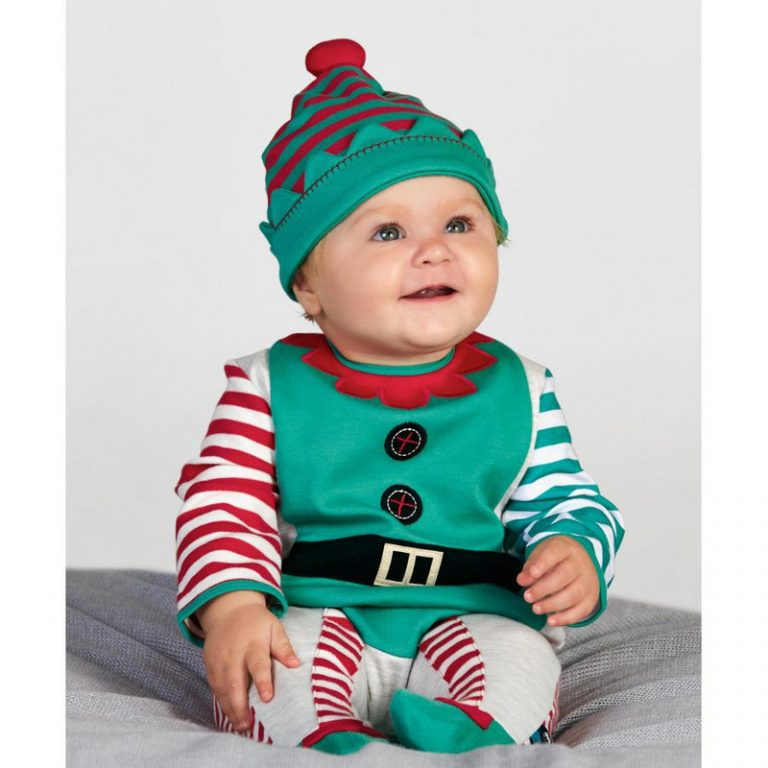 Baby Christmas Costumes Long Romper with Hat 4