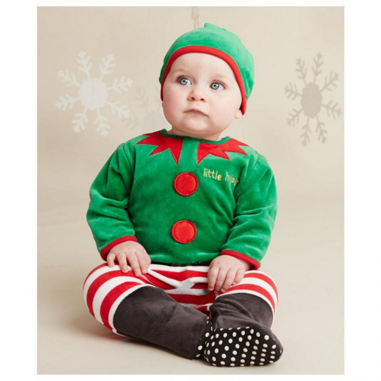 Baby Christmas Costumes Long Romper with Hat 11