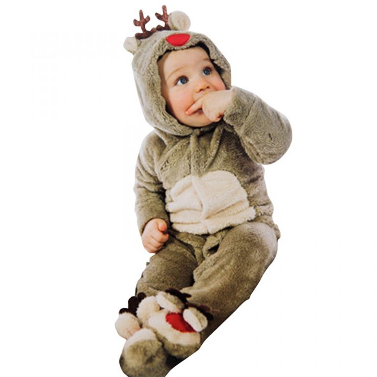 2017 Christmas Cute Cotton Reindeer Costume for Toddler 3