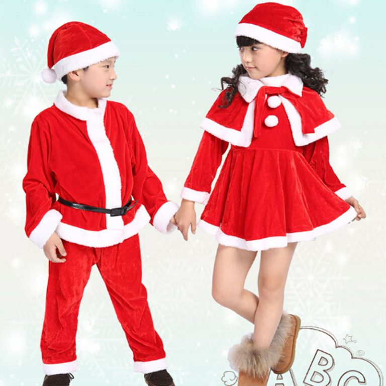 Christmas Costume suit with Cap/Dress/Coat/Pants 16