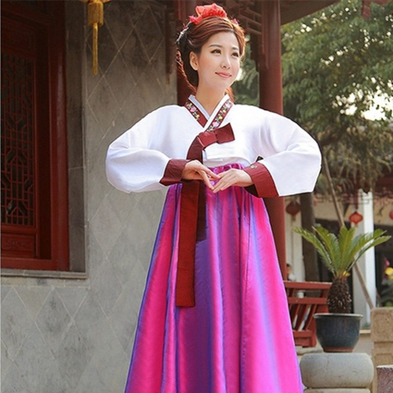 Korea Hanbok Traditional Costumes For Females