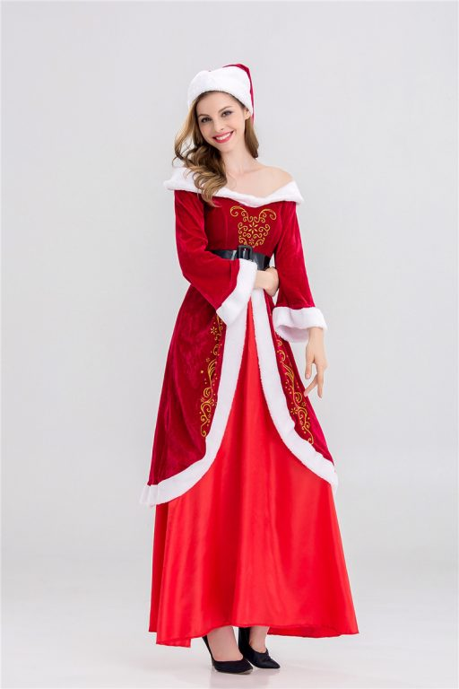 full set of christmas costumes santa claus for adults 3 - Christmas Clothes For Adults