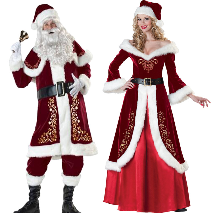 Full Set Of Christmas Costumes Santa Claus For Adults 13