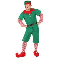 Christmas Cosplay Elf Costume with Belt Head wear For Adult Women 11