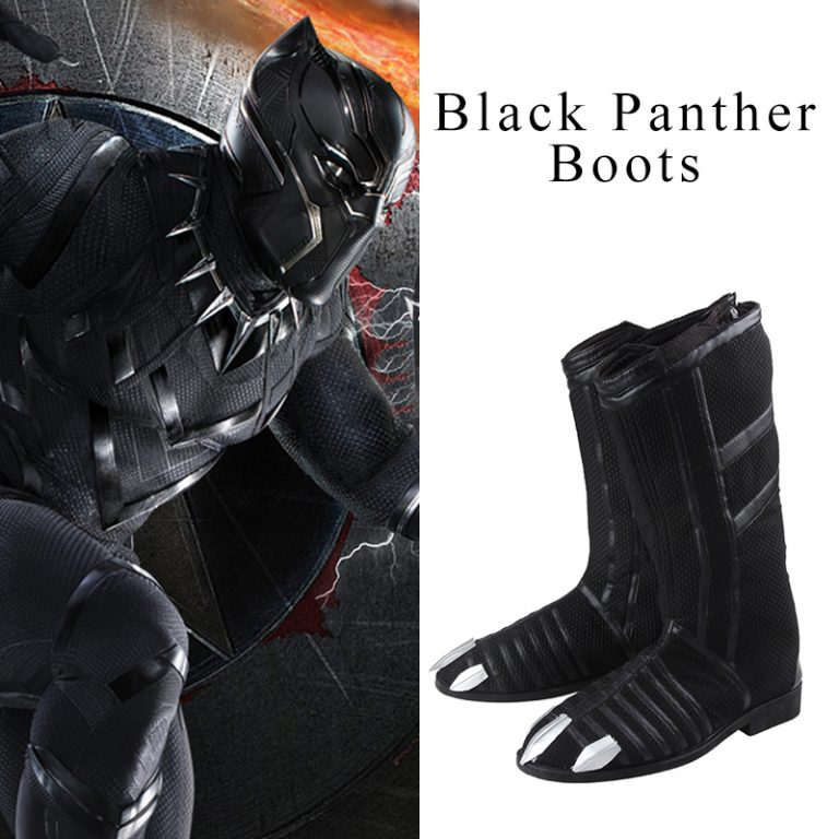 Black Panther Cosplay Boots for Men 1