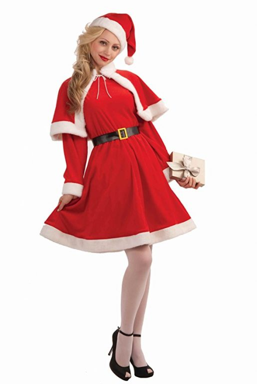 Cheap Christmas Costume with Hat&Belt For Adult 2