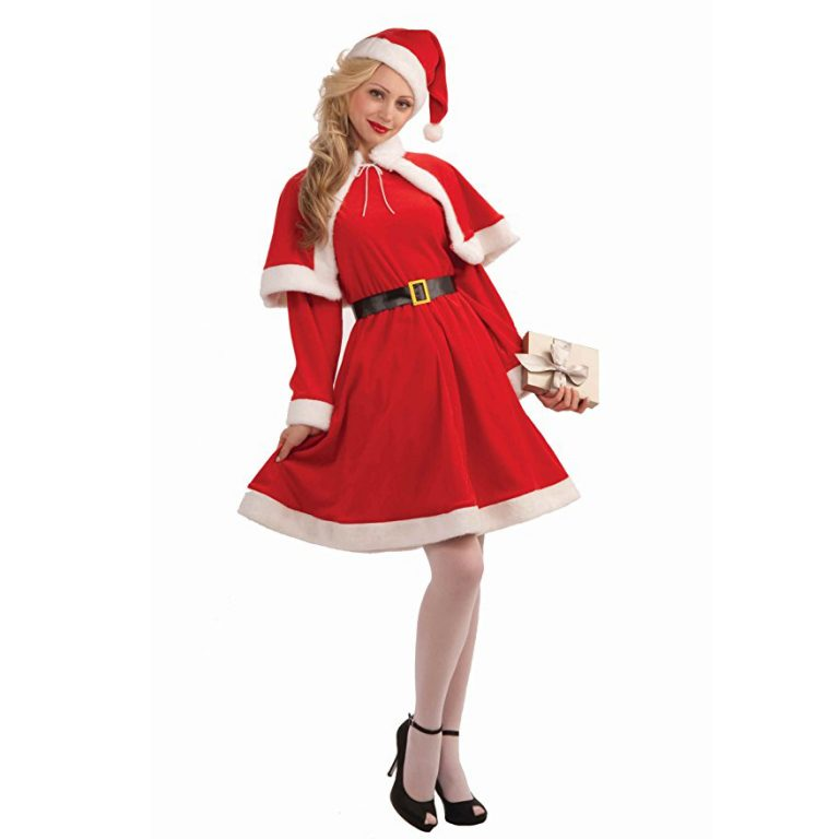 Cheap Christmas Costume with Hat&Belt For Adult 1