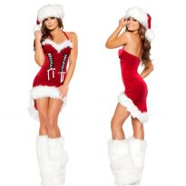 Cheap Christmas Costume with Hat&Belt For Adult 4