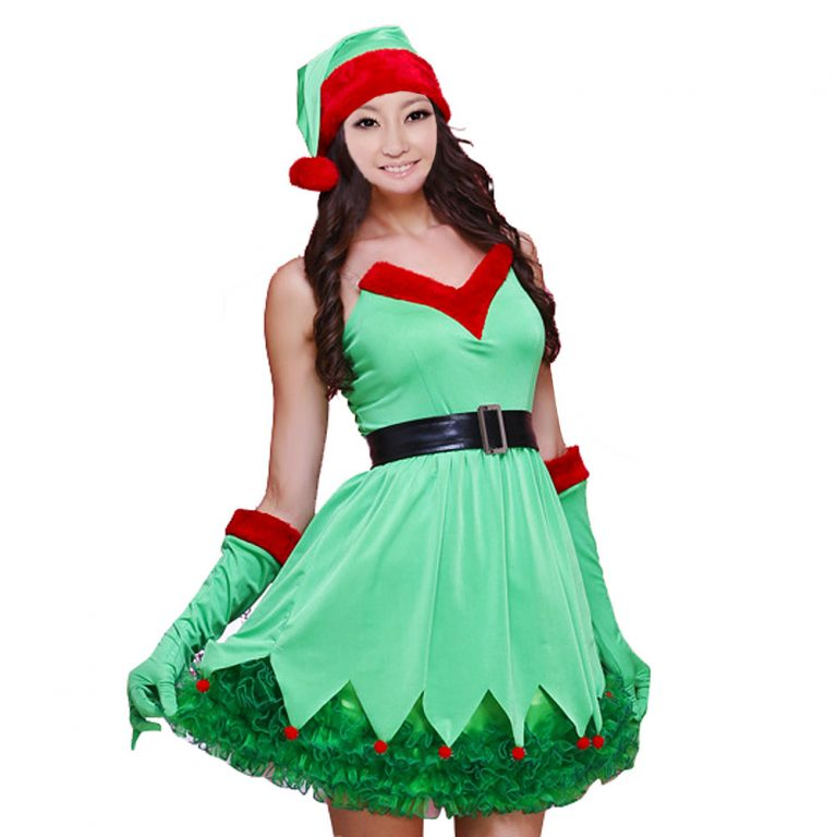 Green Christmas Sexy Costumes for Women 14