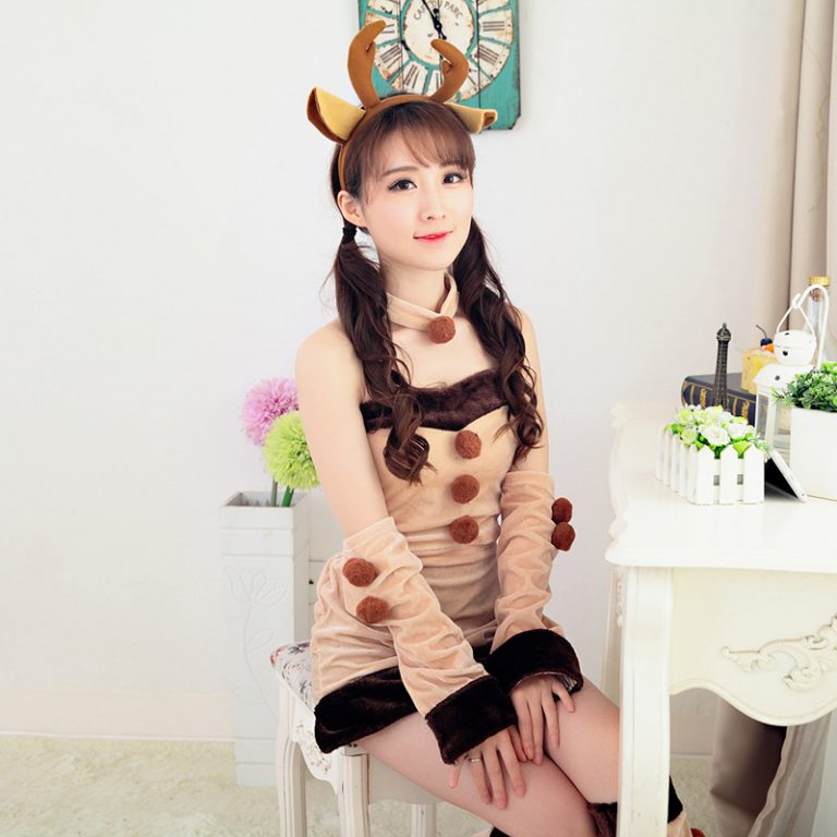 Female Santa Claus Reindeer Cosplay Costume 2