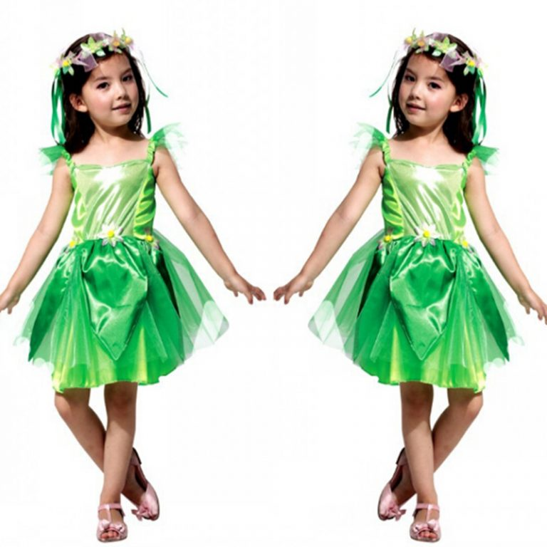 Poison ivy Elf Costumes for Kid 1