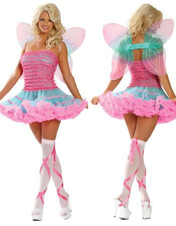Butterfly Sexy Costumes with Colorful Wing 16