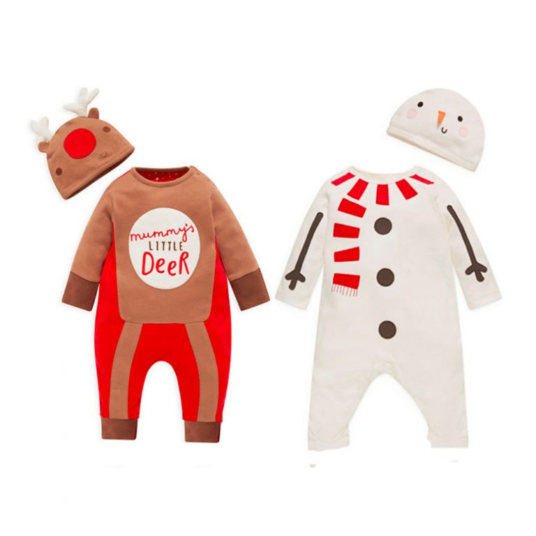 Baby Clothes Reindeer Costume Outfits With Hat 2