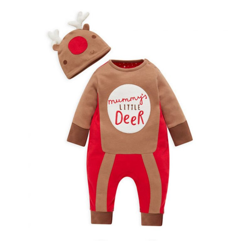 Baby Clothes Reindeer Costume Outfits With Hat 3