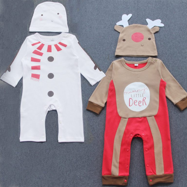 Baby Clothes Reindeer Costume Outfits With Hat 5