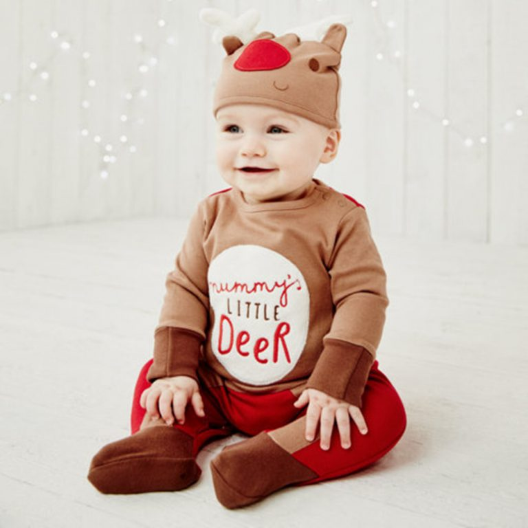 Baby Clothes Reindeer Costume Outfits With Hat 12