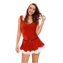 Cheap Christmas Costume with Hat&Belt For Adult 5