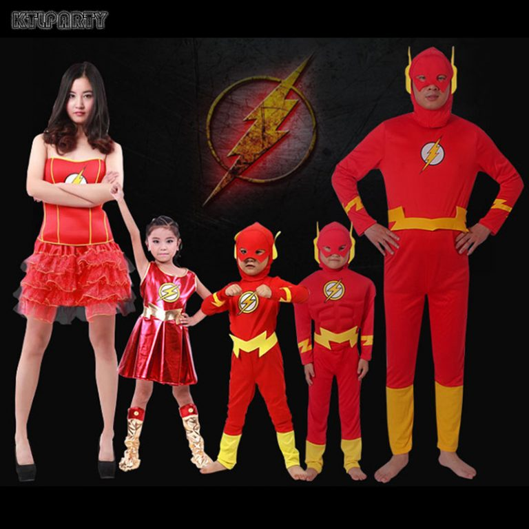 Flash Costume for Adult/Children 10