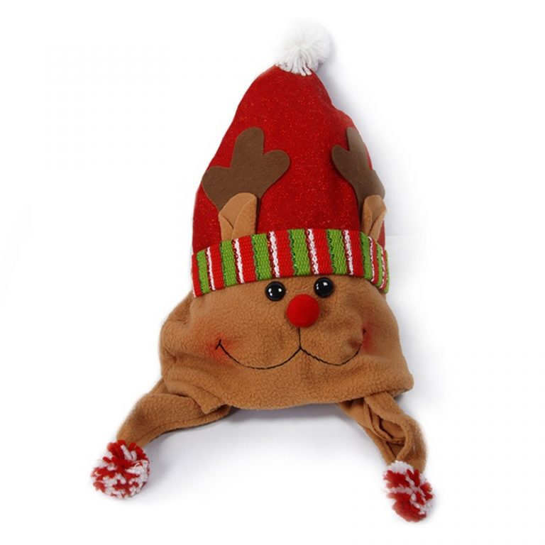 ROLECOS-Hot-Christmas-Hat-Cotton-Cute-Reindeer-Snowman-Ornaments-Hat-Festival-Gift-Christmas-Party-Xmas-Gift