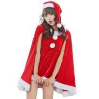 7 in 1 Red Mens Christmas Santa Claus Costumes 4