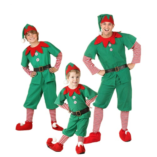 Elf Christmas Costume for Boy Man and Kid 1