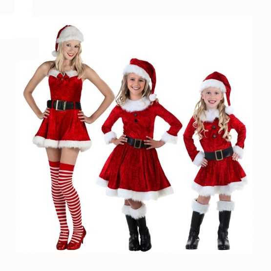 Rolecos-Women-Christmas-Dress-Red-Girl-Dress-Family-Christmas-Costume-Cute-Baby-Costume-For-Kids-Family