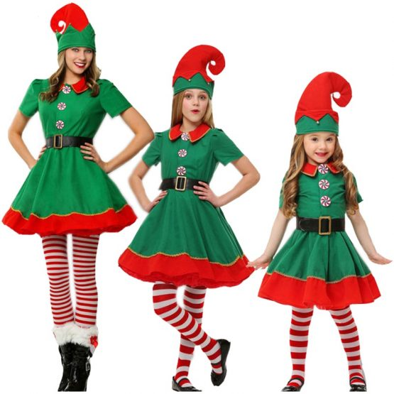 Rolecos-Women-Elf-Christmas-Costume-Girl-Christmas-Dress-Family-Christmas-Clothes-Cosplay-For-Kids-Family-Christmas