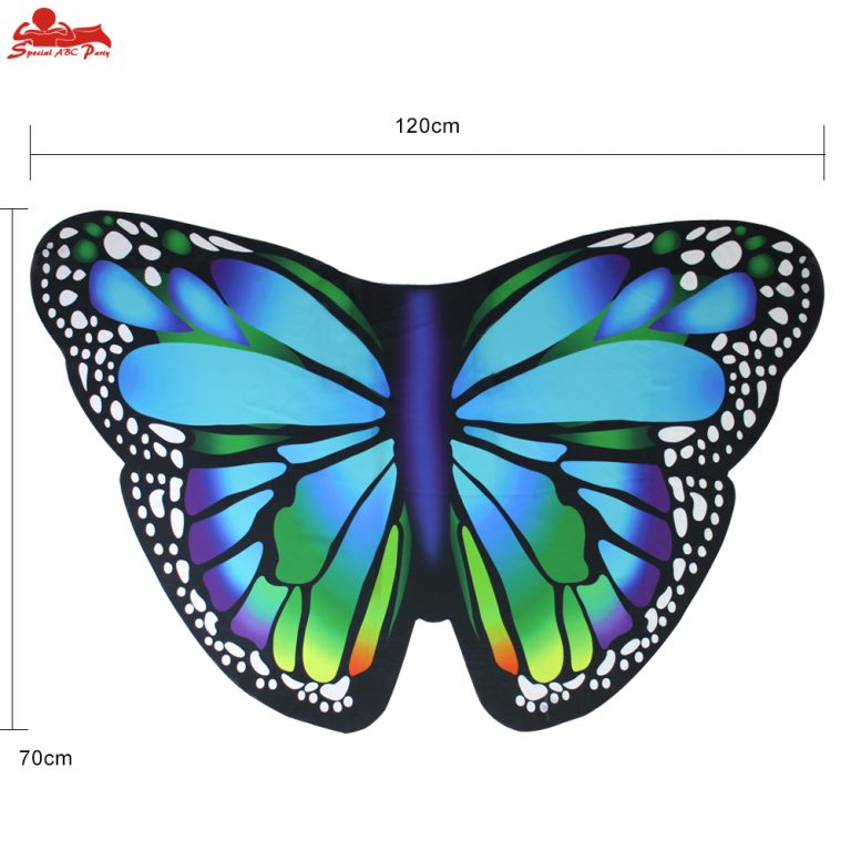 Butterfly Colorful Wings Cape and Mask for Child 2