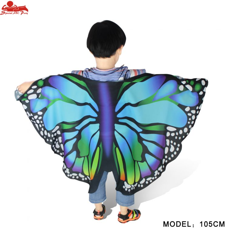 Butterfly Colorful Wings Cape and Mask for Child 3