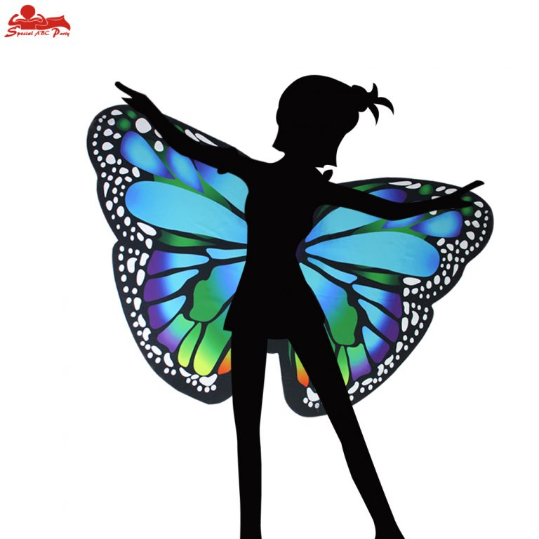 Butterfly Colorful Wings Cape and Mask for Child 4