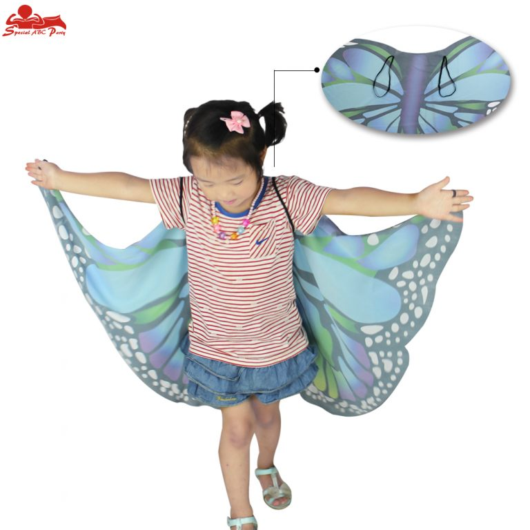 Butterfly Colorful Wings Cape and Mask for Child 5