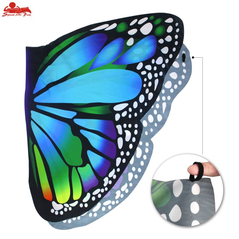 Butterfly Colorful Wings Cape and Mask for Child 6