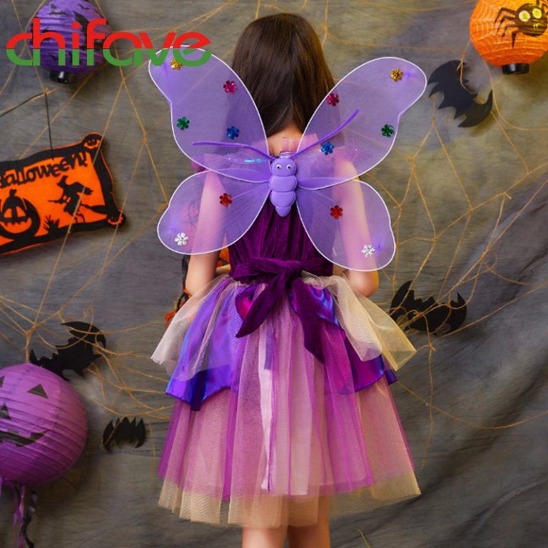 Butterfly Dress with wings for girls 1