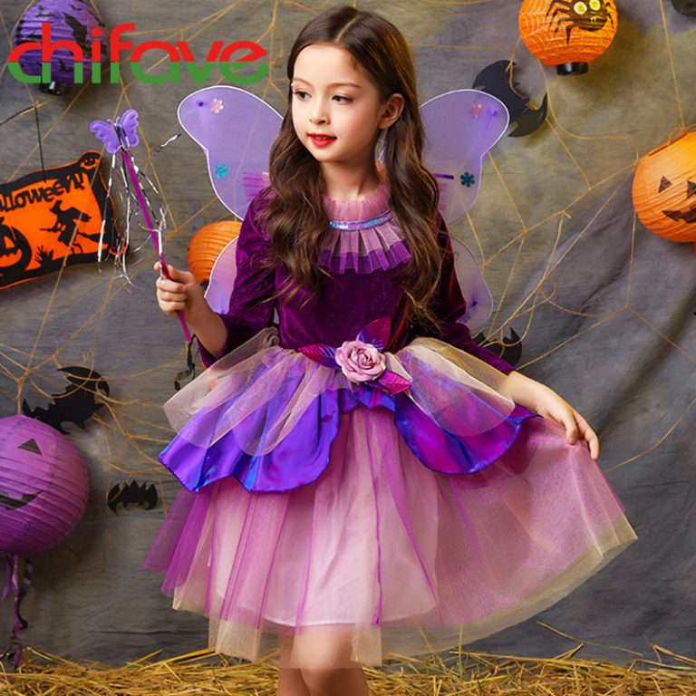 Butterfly Dress with wings for girls 2