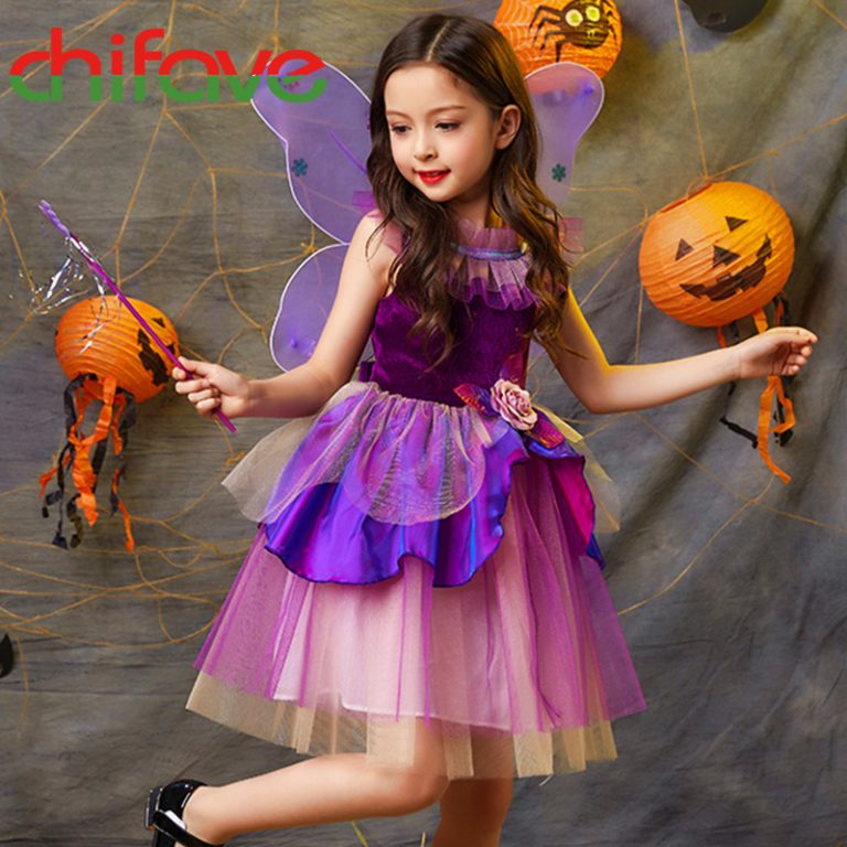 Butterfly Dress with wings for girls 3