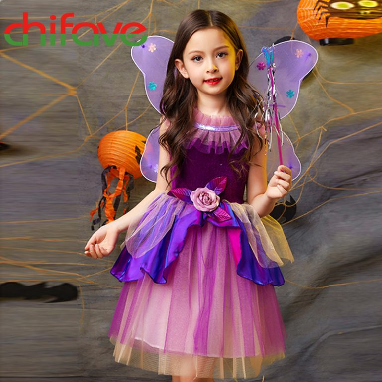 Butterfly Dress with wings for girls 4