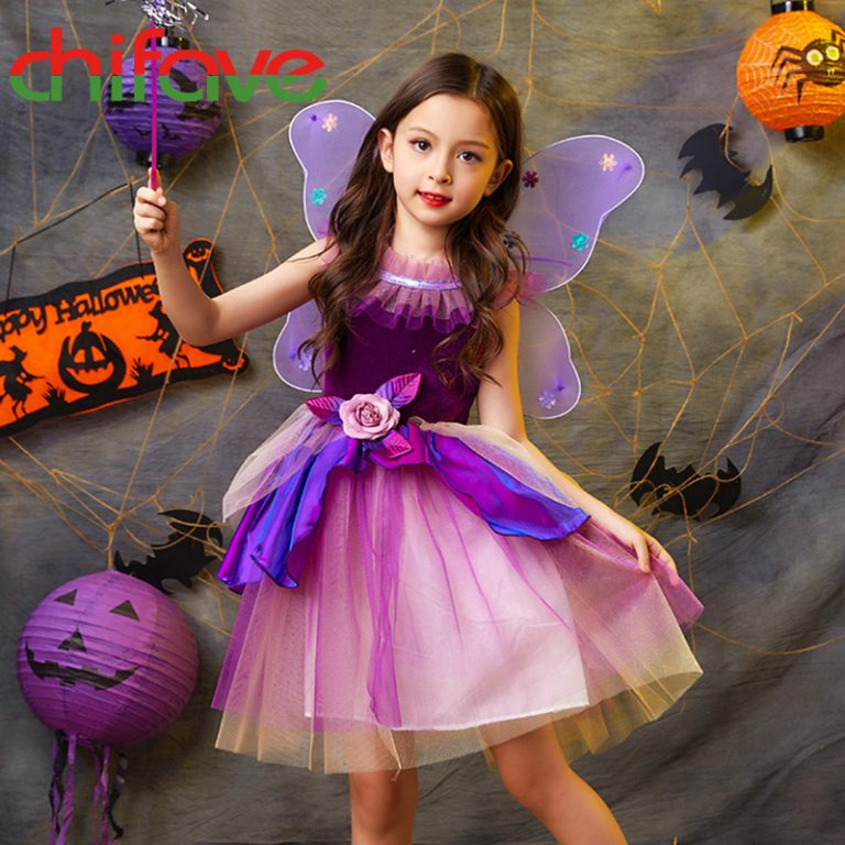 Butterfly Dress with wings for girls 5