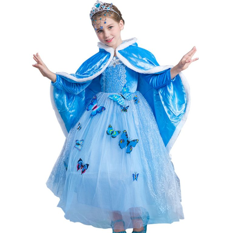 Butterfly Party Dresses for Kids 12
