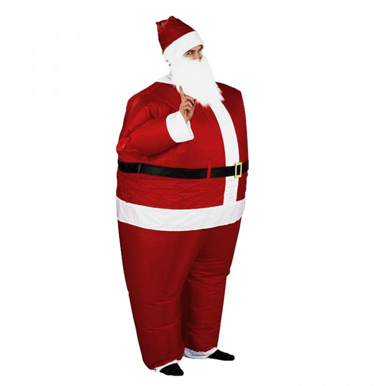 Inflatable Christmas Santa Claus Costume 11