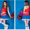 Cheerleader Costume Sleeveless Mini Dress 15