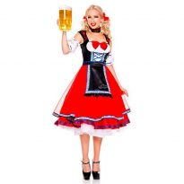 Beer Girl Costume with Skirt Dress Apron Blouse Gown 9