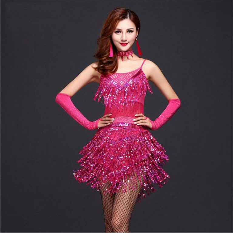 Pink Flapper Stage Dance Costumes 1