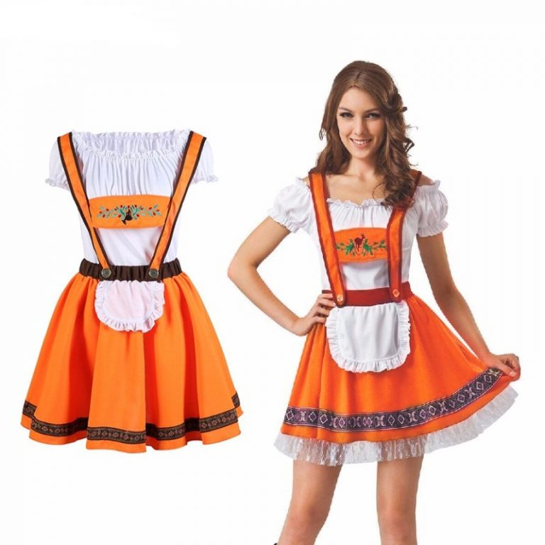 Orange Beer Girl Costume for women 1