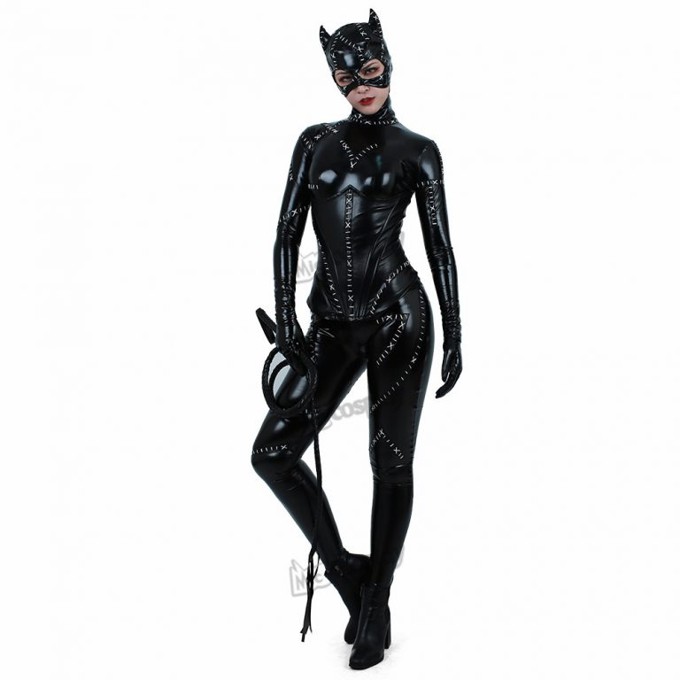 Batman Returns Catwoman Costume Cat Suit Jumpsuit 2