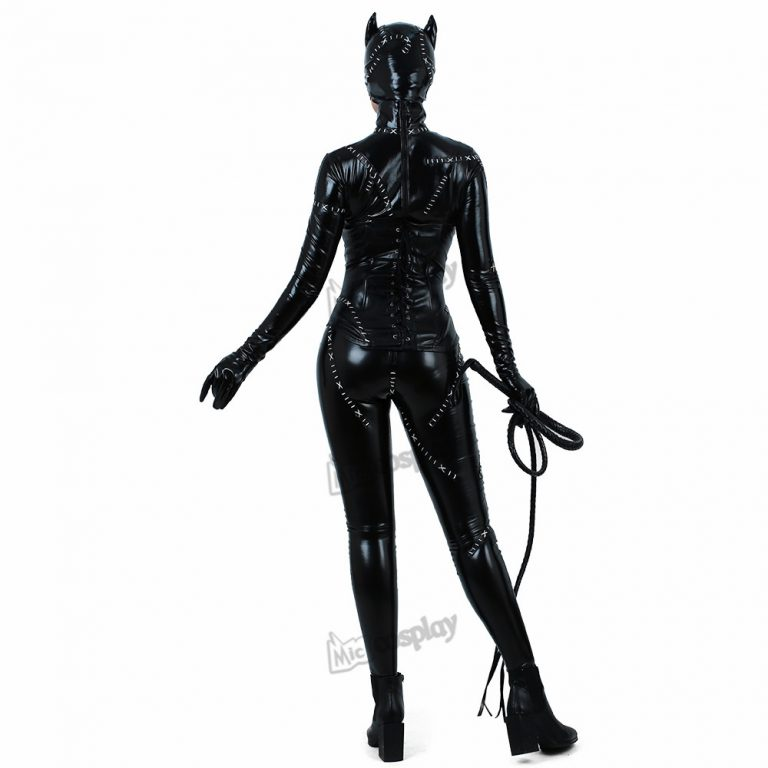 Batman Returns Catwoman Costume Cat Suit Jumpsuit 4